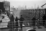 Passengers Watching New York City Skyline Photographic Print by Hanns Tschira