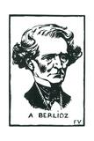 Hector Berlioz (1803-1869) Giclee Print by Felix Edouard Vallotton