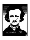 Edgar Allan Poe (1809-1849) Giclee Print by Felix Edouard Vallotton