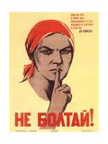 Do Not Chat! Giclée-tryk af Nina Nikolayevna Vatolina