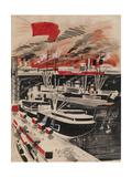 Port Giclee Print by Yuri Ivanovich Pimenov