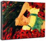 Sleeping Dorothy Stretched Canvas Print