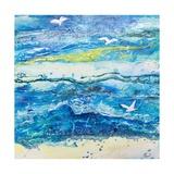 Dancing with the Waves Reproduction procédé giclée par Margaret Coxall