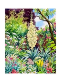 Garden with Flowering Yucca Giclee Print by Christopher Ryland