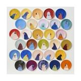 30 Chickens, 2014 Giclée-tryk af Holly Frean