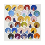 30 Chickens, 2014 Giclee Print by Holly Frean