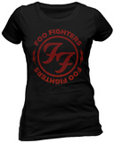 FOO FIGHTERS - LOGO RED CIRCLE (FITTED) T-Shirts