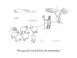 """""""Nice guy, but I wish he'd lose the muttonchops."""" - New Yorker Cartoon Premium Giclee Print by Michael Maslin"""
