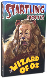 Startling Stories - Lion Stretched Canvas Print