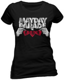 MAYDAY PARADE - HEART (FITTED) T-Shirts