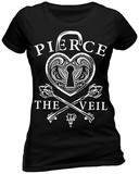 Juniors: Pierce The Veil- Heart Lock T-Shirts