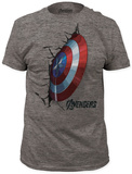 Captain America - crash shield T-shirts