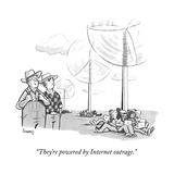 """They're powered by Internet outrage."" - New Yorker Cartoon Premium Giclee Print by Benjamin Schwartz"