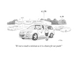 """It's not so much a minivan as it is a hearse for our youth."" - New Yorker Cartoon Premium Giclee Print by Emily Flake"