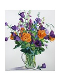 Orange and Purple Flowers Giclee Print by Christopher Ryland