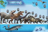 Jurassic World Size Chart Posters