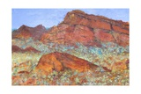 Red Mountain Giclee Print by Margaret Coxall