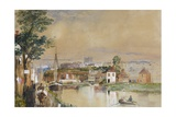 Exeter and the Canal Basin, 1835-40 Giclee Print by John Gendall