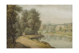 Exeter as Seen from the River, 1816 Giclee Print by John White Abbott