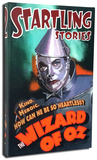 Startling Stories - Tin Man Stretched Canvas Print