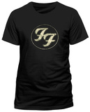 FOO FIGHTERS - LOGO IN GOLD CIRCLE T-shirts
