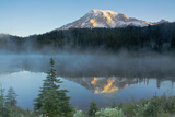 Mount Rainier and Reflection Lake, Mount Rainier National Park, Washington Photographic Print by Michel Hersen