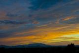 New Mexico, Santa Fe, Sunset from Hyde Park Road at Avenida Primera S Photographic Print by Bernard Friel