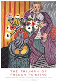 Purple Robe and Anemones Art by Henri Matisse