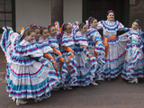 New Mexico, Santa Fe. Hispanic Folkloric Dance Group, Bandstand 2014 Photographic Print by Luc Novovitch