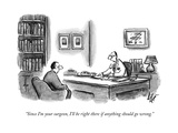 A Doctor speaks to a patient in his office.  - New Yorker Cartoon Premium Giclee Print by Frank Cotham