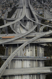 Los Angeles, Aerial of Judge Harry Pregerson Interchange and Highway Fotografiskt tryck av David Wall