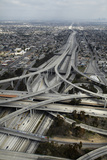 Los Angeles, Aerial of Judge Harry Pregerson Interchange and Highway Photographic Print by David Wall