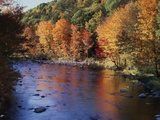 New Hampshire, White Mts Nf, Sugar Maples and Wild Ammonoosuc River Photographic Print by Christopher Talbot Frank