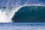 USA, Hawaii, Oahu, Surfers in Action at the Pipeline Photographic Print by Terry Eggers