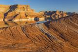 Utah. Weathering Pit Ridge at Lake Powell Photographic Print by Jaynes Gallery