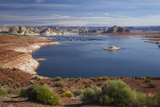 Arizona, Lake Powell at Wahweap, Far Shoreline Is in Utah Photographic Print by David Wall