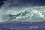 Hawaii, Oahu, Large Waves Along the Pipeline Beach Photographic Print by Terry Eggers