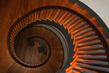USA, Kentucky, Pleasant Hill, Spiral Staircase at the Shaker Village Photographic Print by Joanne Wells