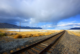 Southern Pacific Railway under Storm Clouds, Black Rock Desert,Nevada Photographic Print by Richard Wright