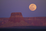 Moon Rising over Tower Butte. Arizona, United States Photographic Print by David Wall