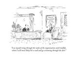 A man interviews for a job.  - New Yorker Cartoon Premium Giclee Print by Barbara Smaller