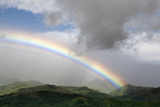Rainbow over Monteverde Cloud Forest, Puntarenas Province, Costa Rica Photographic Print by Thomas Wiewandt
