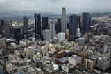Aerial View. of Downtown Los Angeles Photographic Print by David Wall