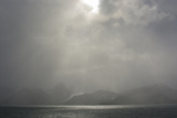 South Georgia. Shore Obscured by a Sudden Storm of Katabatic Winds Photographic Print by Inger Hogstrom