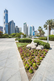 Small Park and Downtown Skyline of Dubai, United Arab Emirates Photographic Print by Michael DeFreitas