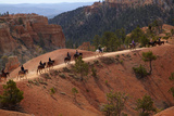 Utah, Bryce Canyon National Park, Horse Trekkers Near Queens Garden Trail Photographic Print by David Wall