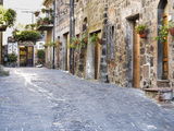 Italy, Tuscany. Streets Along the Small Medieval Town of Contignano Photographic Print by Julie Eggers