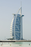 Jumeirah Beach with Burj Al Arab Hotel Dubai, United Arab Emirates Photographic Print by Michael DeFreitas