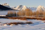USA, Wyoming, Grand Tetons National Park. Oxbow Bend in Winter Photographic Print by Jaynes Gallery