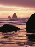 Oregon, Sunset over Sea Stacks at Meyers Creek Beach Photographic Print by Christopher Talbot Frank